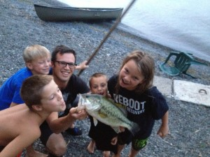 We stayed at a Lakehouse outside Ithaca and caught some nice fish.
